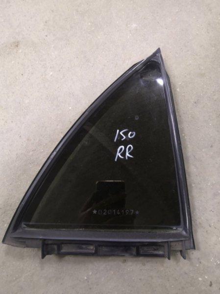 Форточка двери Toyota Corolla E150 1ZR-FE 2006 задняя правая (б/у)