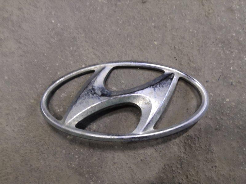 Эмблема Hyundai Solaris RB G4FA 2011 задняя (б/у)