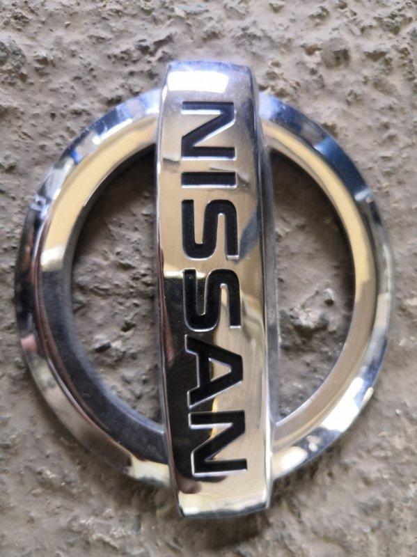 Эмблема Nissan Almera G15 K4M 2013 задняя (б/у)