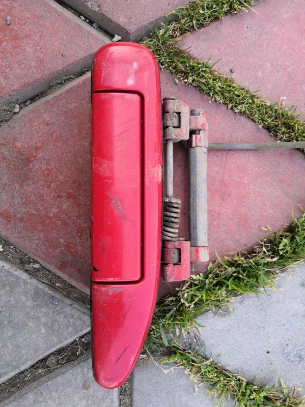 Ручка двери внешняя Nissan Wingroad Y11 QG15-DE 1999 задняя правая (б/у)