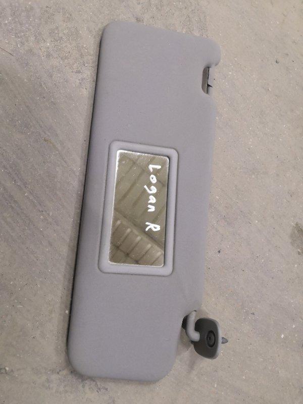Козырек солнцезащитный Renault Logan LSOG/LS12 K7M 2004 передний правый (б/у)