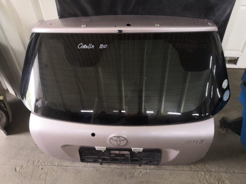 Дверь багажника Toyota Corolla E120 1NZ-FE 2000 (б/у)