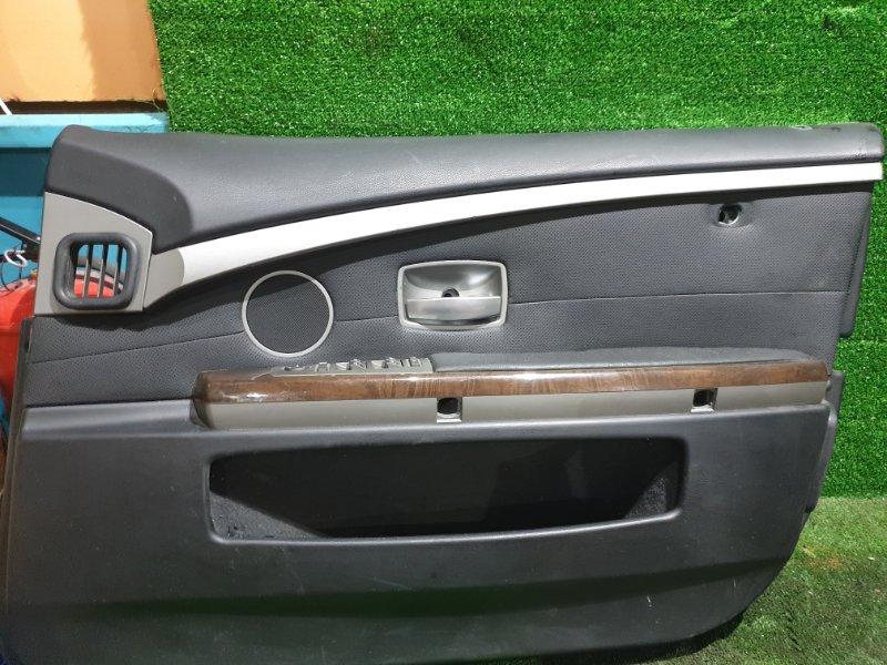 Обшивка дверей Bmw 7-Series E65 N62B44 2002 передняя правая (б/у)
