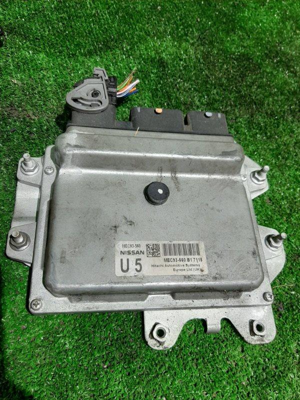 Блок управления efi Nissan Dualis KNJ10 MR20 (б/у)