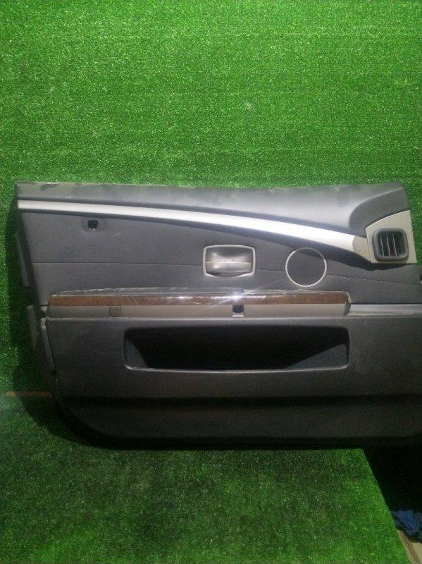 Обшивка дверей Bmw 7-Series E65 N62B44 2002 передняя левая (б/у)