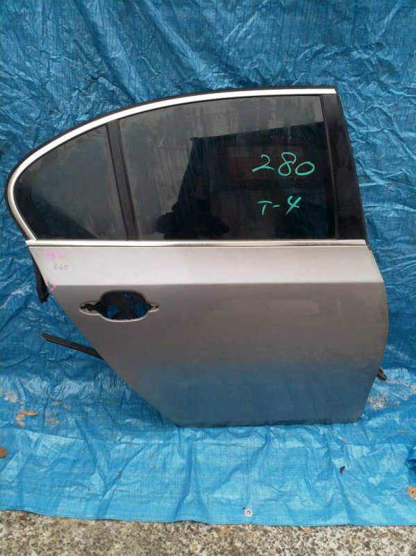 Дверь Bmw 5-Series E60 M54B25 2004 задняя правая (б/у)