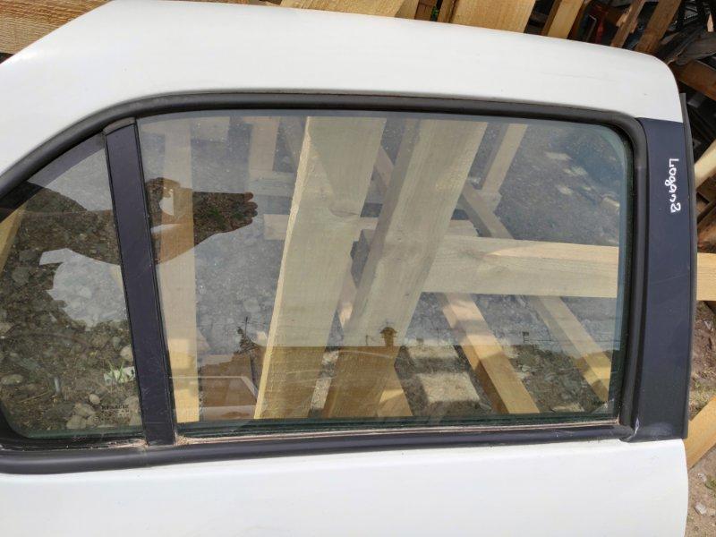 Стекло дверное Renault Logan 2 1999 заднее правое (б/у)