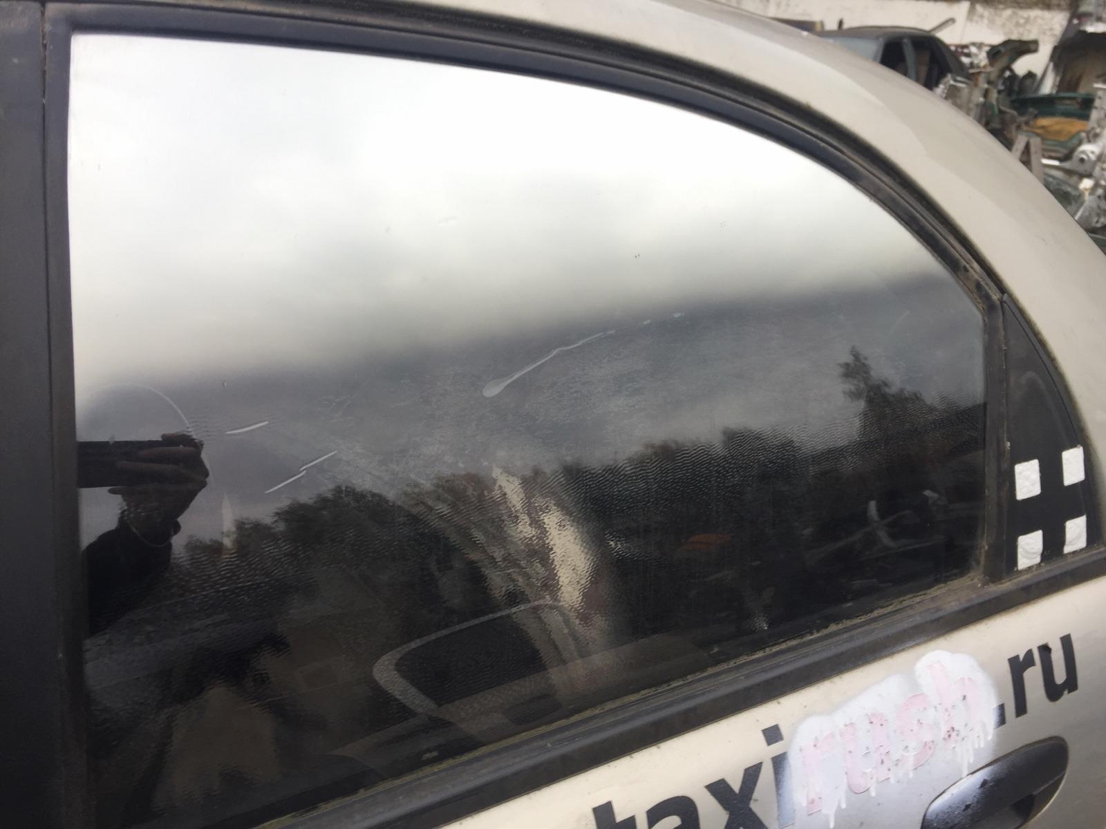 Стекло дверное Chevrolet Lanos T150 1.5 2005 заднее левое (б/у)