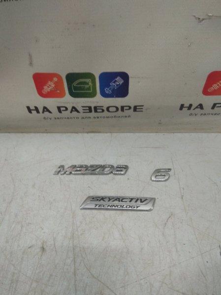 Эмблема Mazda 6 GJ PE-VPS 2.0 2013 задняя (б/у)