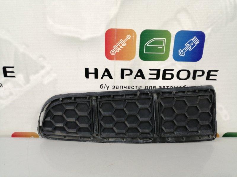 Накладка на бампер Porsche Cayenne 958 M48.02 2014 передняя левая (б/у)