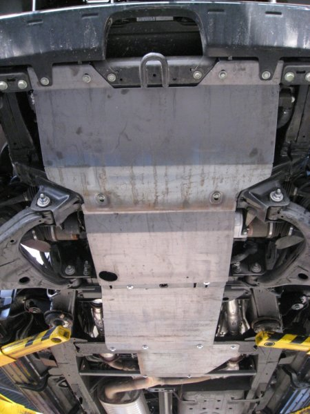 Защита картера двигателя железная Nissan Patrol 160 VK56VD