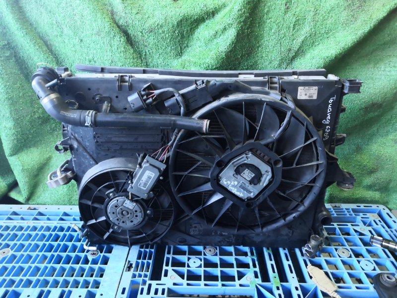 Диффузор радиатора Volkswagen Touareg 7LAXQA AXQ 2005/12 (б/у)