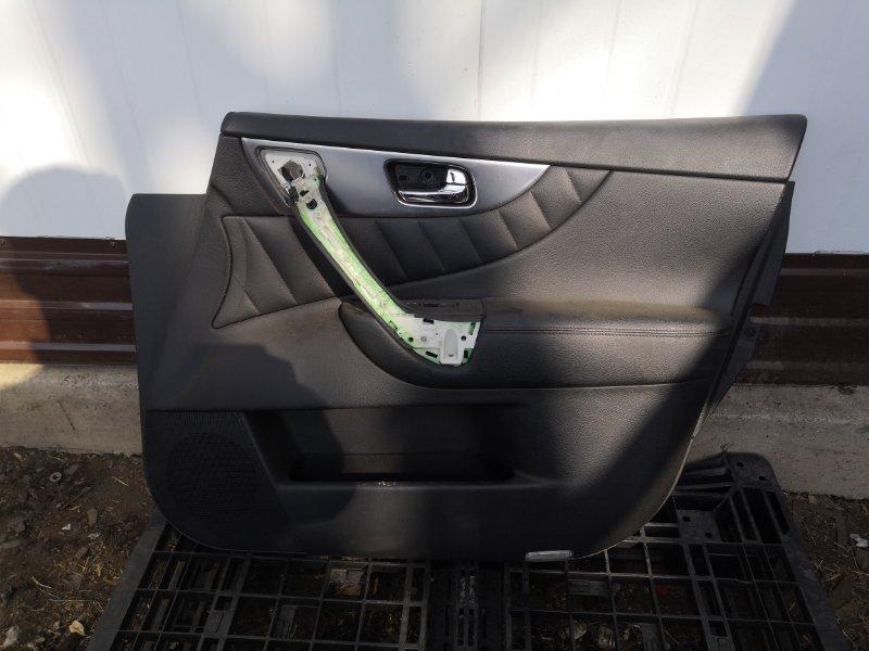 Обшивка дверей Infiniti Fx35 S51 VQ35HR 2010 передняя правая (б/у)