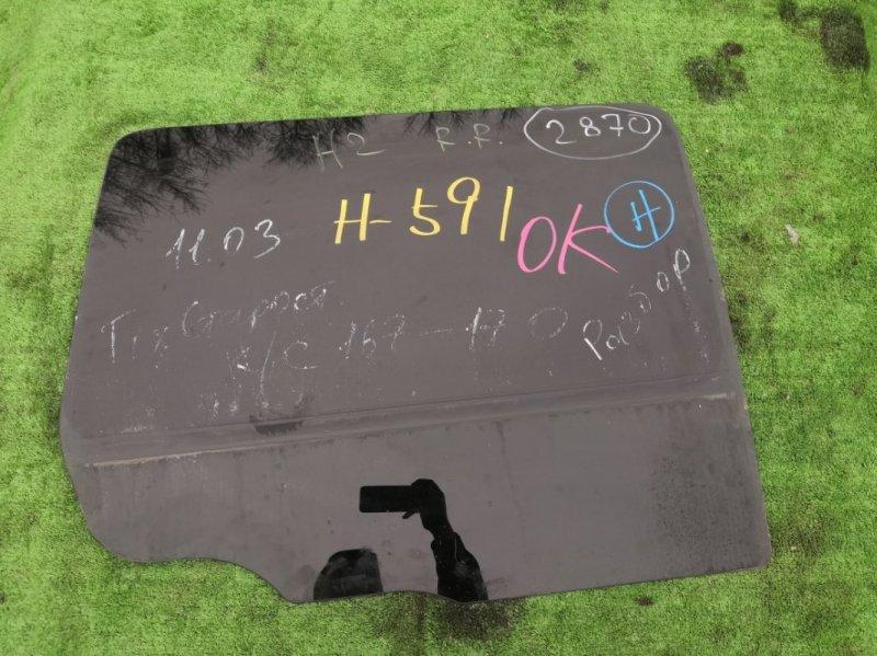 Стекло двери Hummer H2 5GRGN23U24H122293 LQ4 2005 заднее правое (б/у)