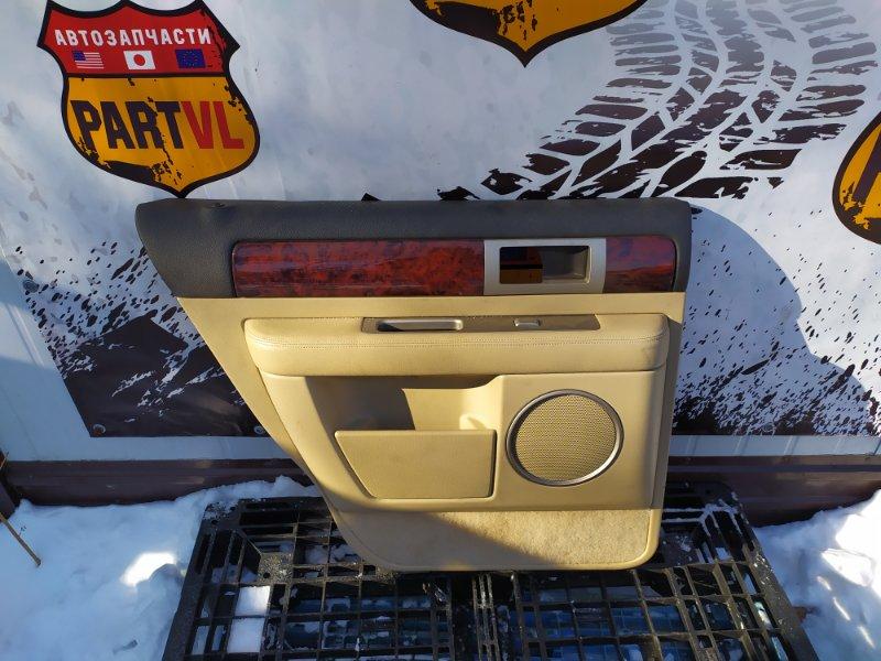 Обшивка дверей Lincoln Navigator U228 5.4L V8 SOHC 24V TRITON 2005 задняя левая (б/у)