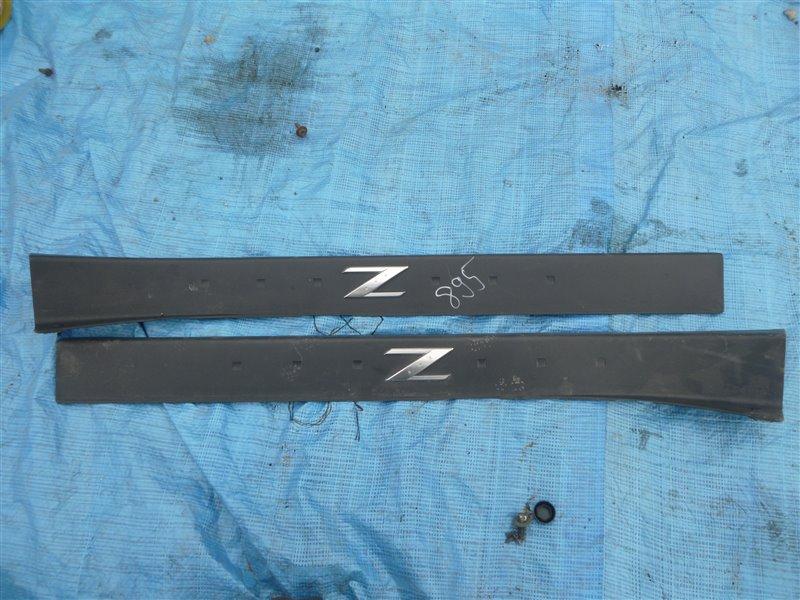 Накладка на порог салона Nissan Fairlady Z33 VQ35DE 2006 (б/у)