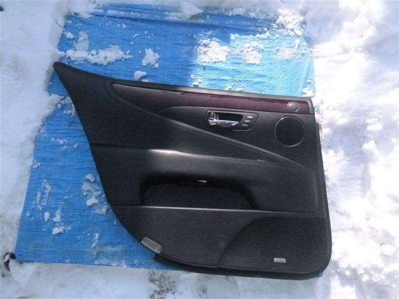 Обшивка двери Lexus Ls600Hl UVF46 2UR-FSE 2009 задняя левая (б/у)
