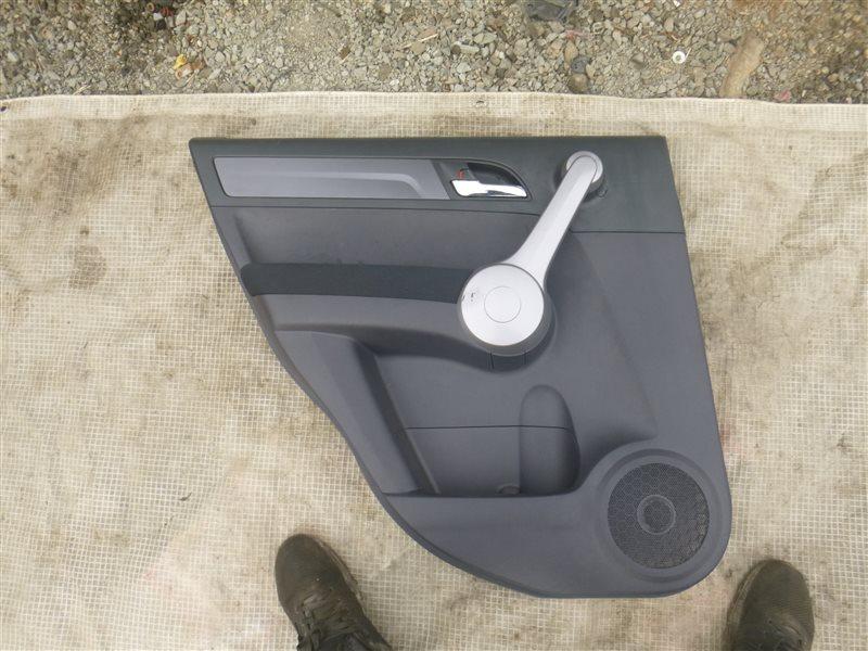 Обшивка двери Honda Cr-V RE4 K24A 2007 задняя левая (б/у)