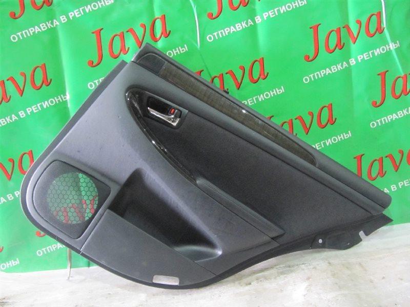 Обшивка дверей Toyota Crown Majesta UZS187 2004 задняя правая (б/у) +ШТОРКА, ПОСЛЕ ФОТО УПАКОВАНО.