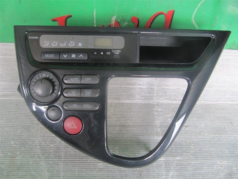 Климат контроль Toyota Wish ZNE14 2004 передний (б/у) +РАМКА 2-Я МОДЕЛЬ,ПОД КАРБОН