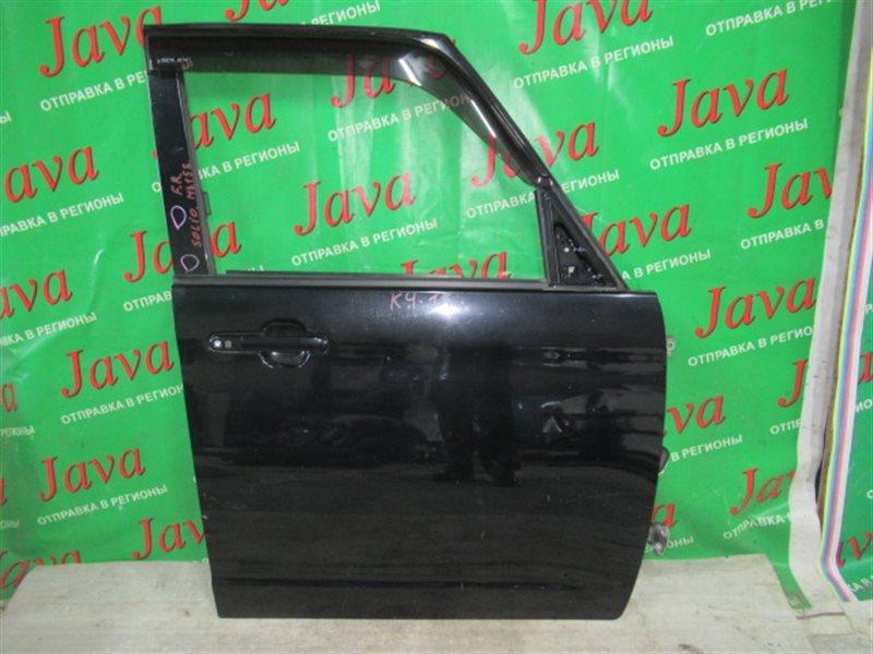 Дверь Suzuki Solio MA15S K12B 2013 передняя правая (б/у) БЕЗ ВЕТРОВИКА, ПОТЕРТОСТИ,2 ТЫЧКИ НА СТОИКЕ