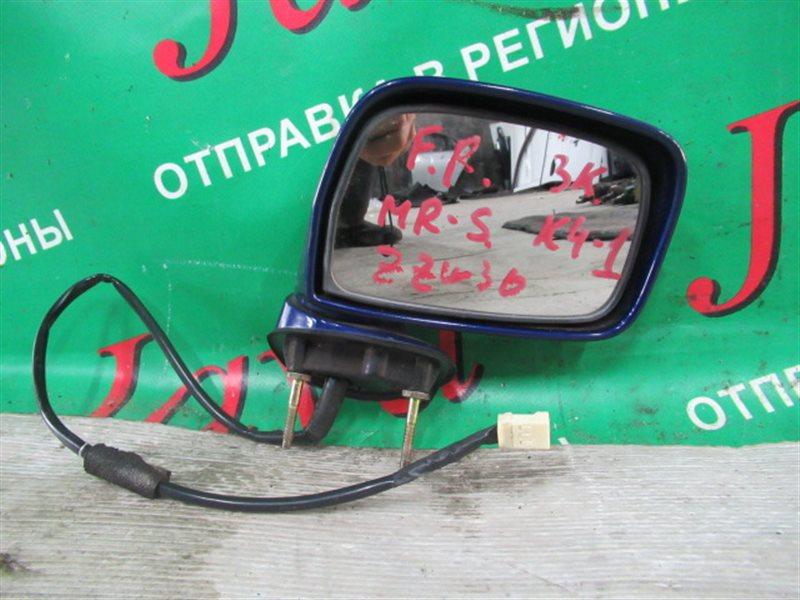 Зеркало Toyota Mr-S ZZW30 2002 переднее правое (б/у) 3 КОНТАКТА