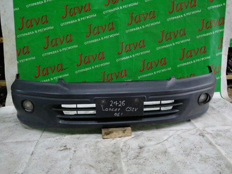 Бампер Mitsubishi Lancer Cedia CS2V 2006 передний (б/у) жестк., бампера, туманки, потертости