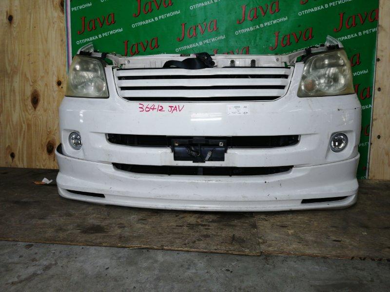 Ноускат Toyota Noah AZR60 1AZ-FSE 2004 передний (б/у) ГУБА. КСЕНОН.  ПОТЕРТОСТИ. НА ЛЕВОЙ ФАРЕ ПОТЕРТОСТЬ.