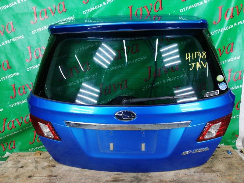 Дверь задняя Subaru Exiga YA5 EJ204 2010 задняя (б/у) КАМЕРА. СПОЙЛЕР. МЕТЛА. ПОТЕРТОСТЬ.