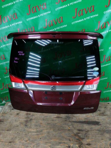 Дверь задняя Suzuki Solio MA15S K12B 2013 задняя (б/у) СПОЙЛЕР. МЕТЛА. ПОТЕРТОСТЬ.