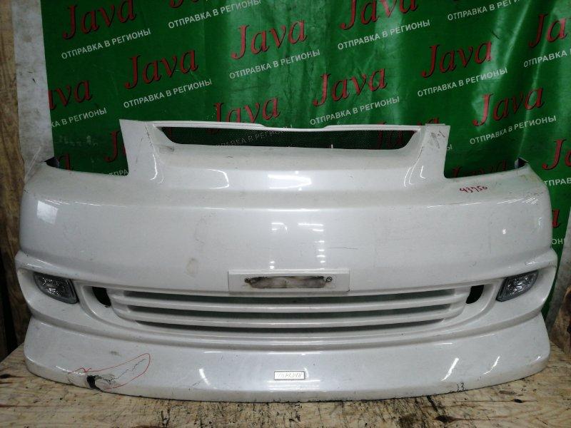 Бампер Toyota Noah AZR60 2004 передний (б/у) СТЕКЛОВОЛОКНО. ТУМАНКИ. ДЕФЕКТЫ.