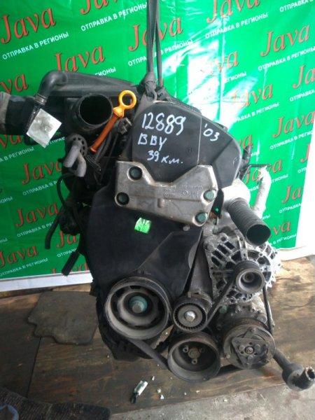 Двигатель Volkswagen Lupo 6X1 BBY 2003 (б/у) ПРОБЕГ-39000КМ. 2WD. +КОМП.  ПОД А/Т. СТАРТЕР В КОМПЛЕКТЕ.WVWZZZ6XZ3B027151