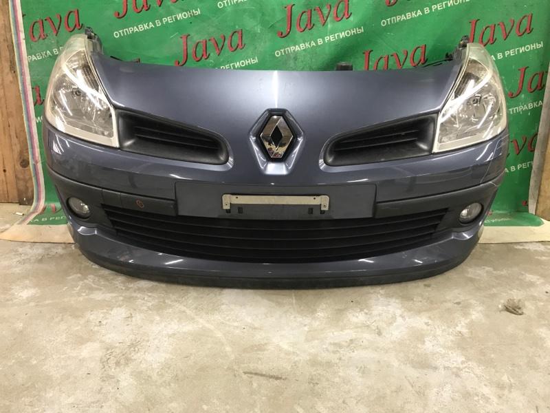 Ноускат Renault Clio BR0B K4M801 2007 передний (б/у) ТУМАНКИ. А/Т. ПОТЕРТОСТЬ НА БАМПЕРЕ. VF1BR1B0A60638656