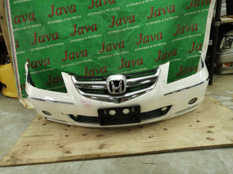 Бампер Honda Legend KB1 J35A 2004 передний (б/у) ТУМАНКИ. +РЕШЕТКА