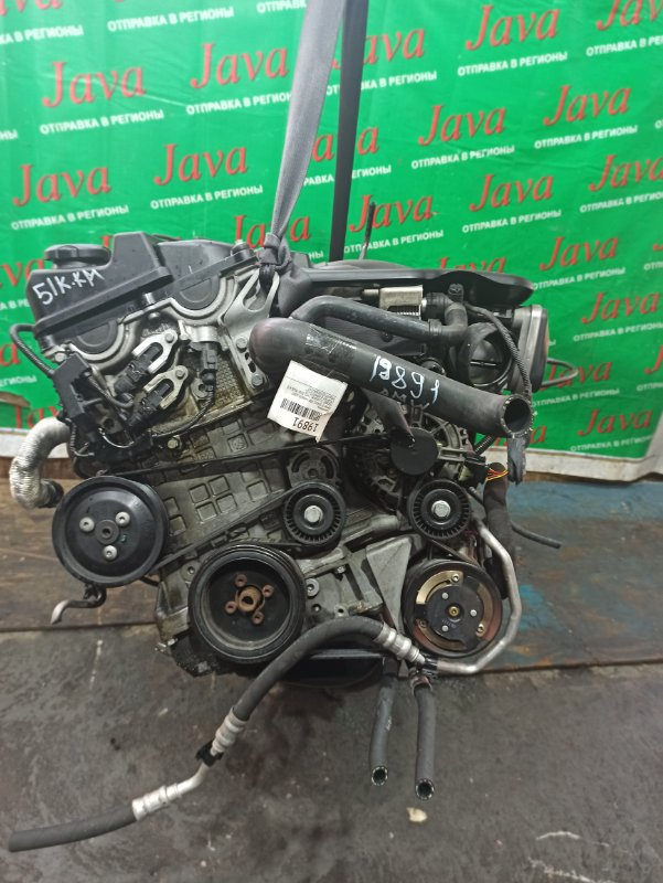 Двигатель Bmw 3-Series E90 N46B20 2007 (б/у) ПРОБЕГ-51000КМ. 2WD. 320I. КОСА+КОМА. ПОД А/Т. СТАРТЕР В КОМПЛЕКТЕ. WBAVR72010KW42097