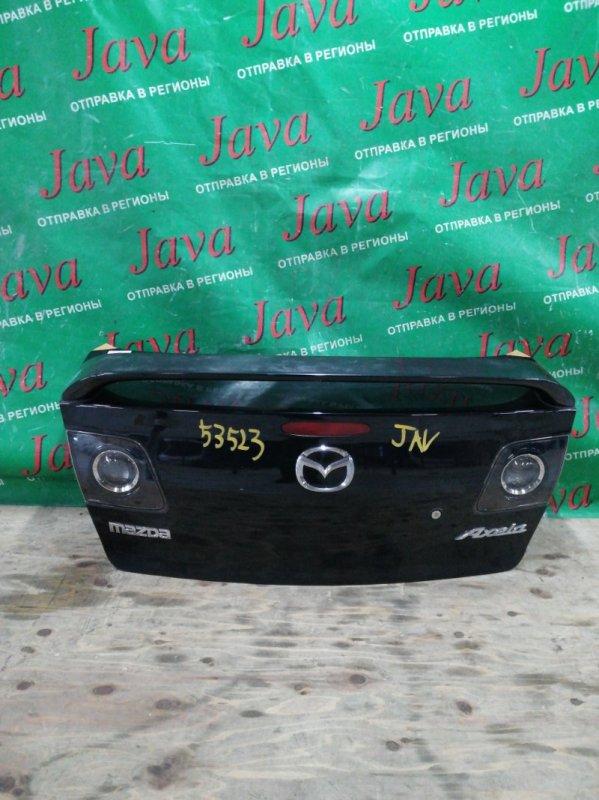 Крышка багажника Mazda Axela BK5P ZY 2006 задняя (б/у) СПОЙЛЕР. СТОП ВСТАВКИ. СЛЕДЫ СКОТЧА