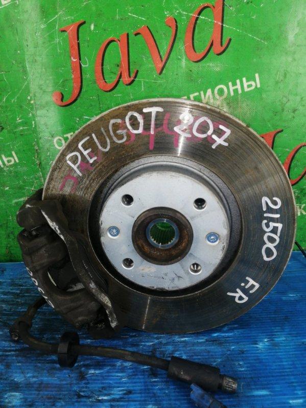 Ступица Peugeot 207 WC EP6C 2010 передняя правая (б/у) 2WD. ABS. VF3WC5FS9AW072707