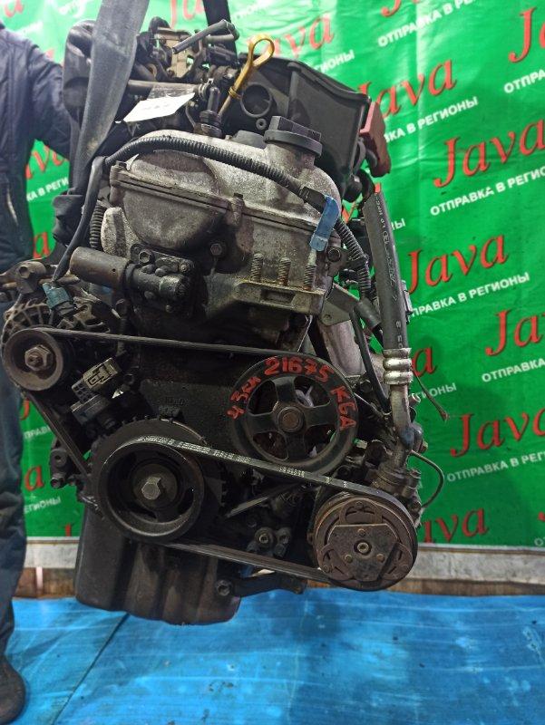 Двигатель Mazda Az Wagon MJ22S K6A 2007 (б/у) ПРОБЕГ-43000КМ. 2WD. +КОМП. ПОД А/Т. СТАРТЕР В КОМПЛЕКТЕ. ЛОМ ДАТЧИКА VVT-I.