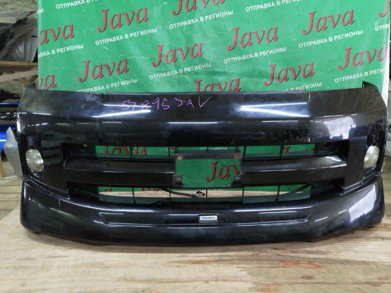 Бампер Toyota Voxy AZR60 1AZ-FSE 2007 передний (б/у) ПОТЕРТОСТИ. ГУБА DAMD. +ТУМАНКИ