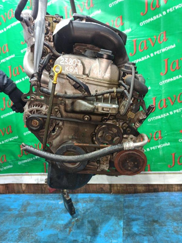 Двигатель Suzuki Wagon R MC22S K6A-T 2011 (б/у) ПРОБЕГ-49000КМ. 2WD. +КОМП. МЕХ. ЗАСЛОНКА. ПОД А/Т. СТАРТЕР В КОМПЛЕКТЕ.