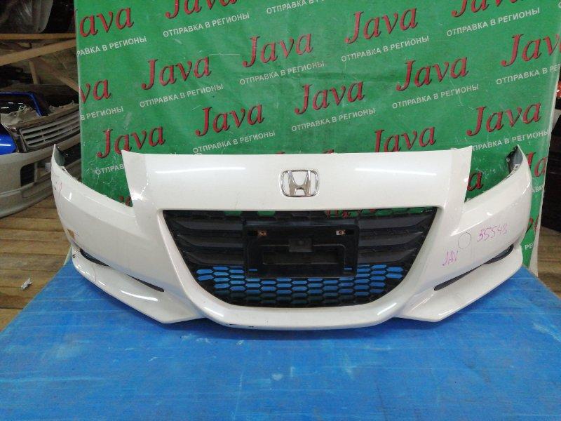 Бампер Honda Cr-Z ZF1 LEA 2010 передний (б/у) ТУМАНКИ. РЕШЕТКА. ПОТЕРТОСТИ. ДЕФЕКТ