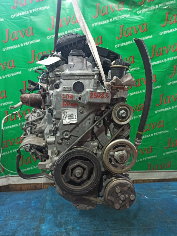 Двигатель Honda Insight ZE2 LDA 2009 (б/у) ПРОБЕГ-60000КМ. 2WD. КОСА+КОМП. ПОД А/Т.