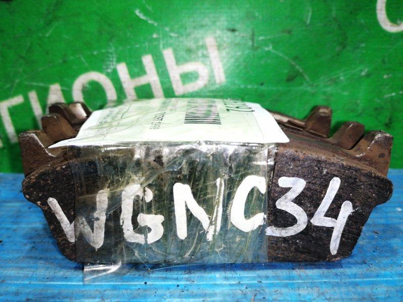 Колодки тормозные Nissan Stagea WGNC34 RB25DET 1999 задние (б/у)
