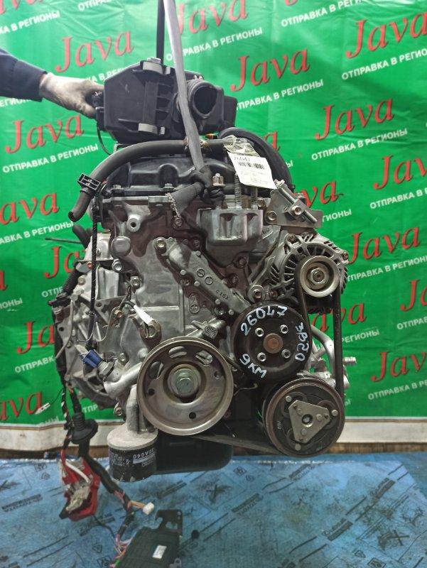 Двигатель Mitsubishi Ek Wagon B11W 3B20 2013 (б/у) ПРОБЕГ-9000КМ. 2WD. КОСА+КОМП. ПОД А/Т. СТАРТЕР В КОМПЛЕКТЕ.