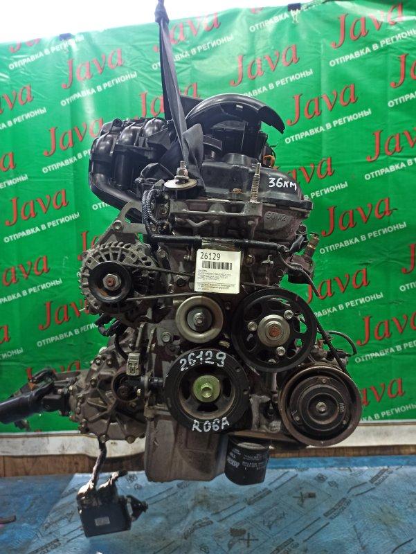 Двигатель Suzuki Wagon R MH34S R06A 2013 (б/у) ПРОБЕГ-36000КМ. 4WD. +КОМП. ПОД М/Т. СТАРТЕР В КОМПЛЕКТЕ. ПРОДАЖА БЕЗ МАХОВИКА.