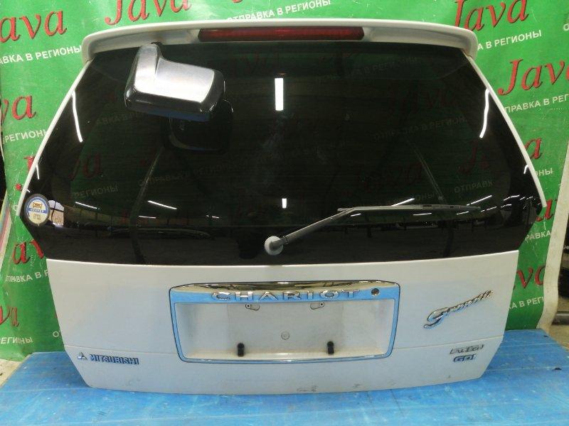 Дверь задняя Mitsubishi Chariot Grandis N84W 4G64 1999 задняя (б/у) ПОТЕРТОСТИ. СПОЙЛЕР, РОЖОК, МЕТЛА.