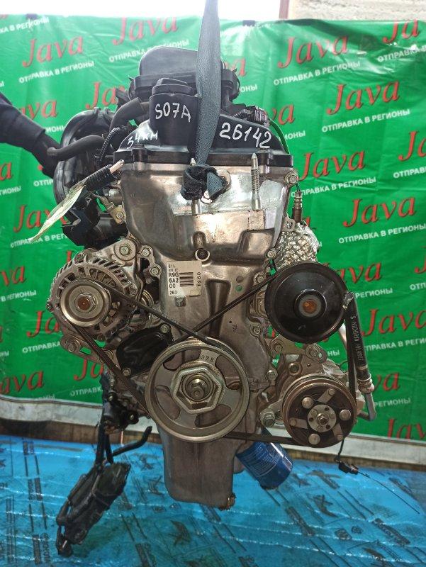 Двигатель Honda N-Box JF1 S07A 2014 (б/у) ПРОБЕГ-34000КМ. КОСА+КОМП. ЭЛЕКТРО ЗАСЛОНКА. 2WD. ПОД А/Т. СТАРТЕР В КОМПЛЕКТЕ.