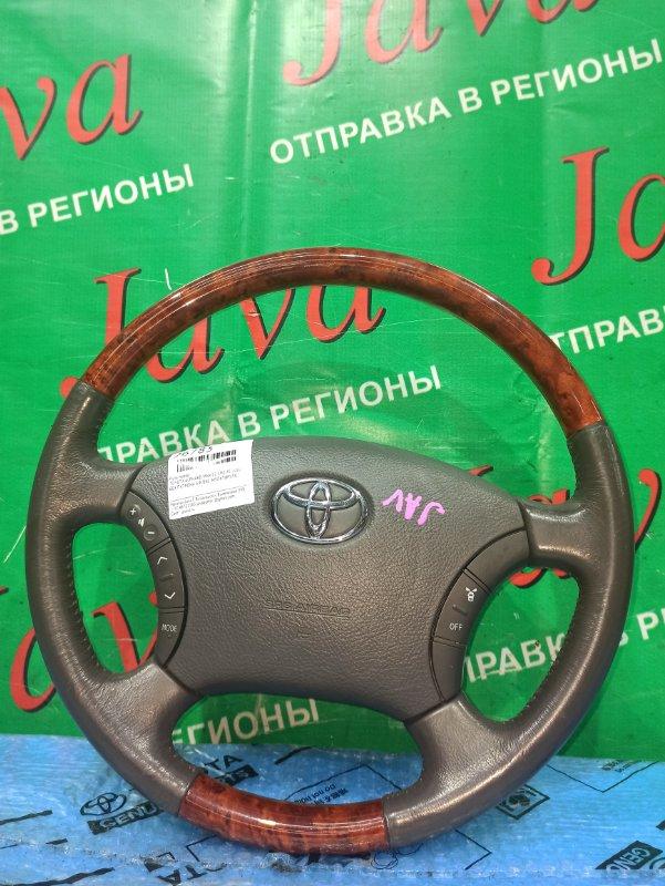 Руль Toyota Alphard MNH15 1MZ-FE 2002 передний (б/у) БЕЗ ПАТРОНА AIR BAG. МУЛЬТИРУЛЬ