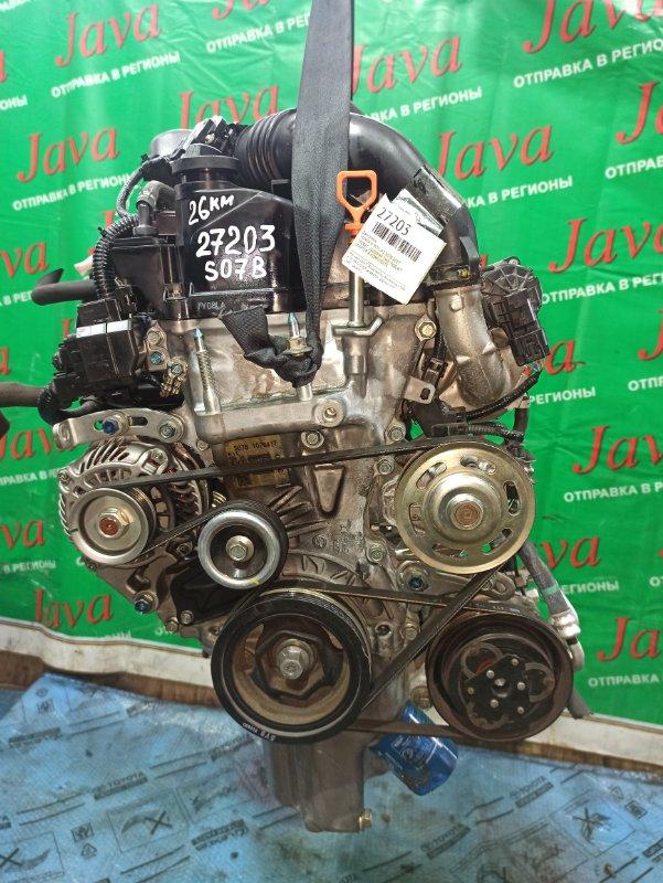 Двигатель Honda N-Box JF3 S07B-T 2017 (б/у) ПРОБЕГ-26000КМ.TURBO. +КОМП.  2WD. ПОД А/Т. СТАРТЕР В КОМПЛЕКТЕ.