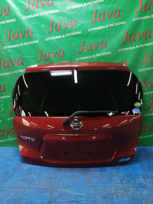 Дверь задняя Nissan Note E12 HR12DE 2013 задняя (б/у) ПОТЕРТОСТИ. МЕТЛА. КАМЕРА